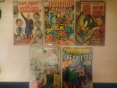 Lot of 5 comics, Fantastic Four #104, Strange Tales #152 and more!!!
