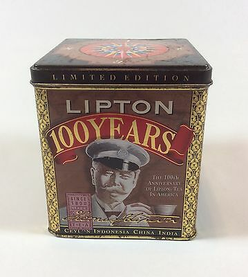 Lipton Tea Tin Collectible 100 Years Anniversary  Limited Edition 1990