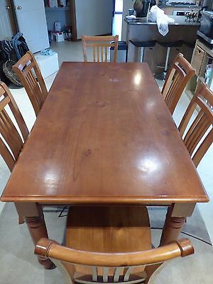 maple table and chair set