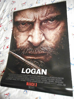"Hugh Jackman LOGAN orig movie poster one sheet DS 27x40"" Wolverine 2017"