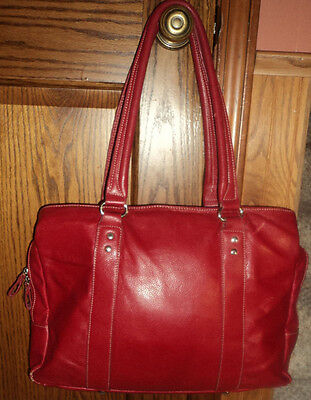 ebags large red lap top bag three compartments