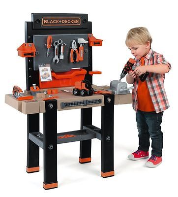NEW Smoby Black and Decker Kids childrens Bricolo Play Workbench toy rrp £89