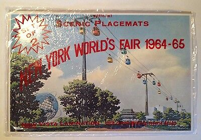1964-65 New York World's Fair Official Scenic Unisphere Placemats- set of 2