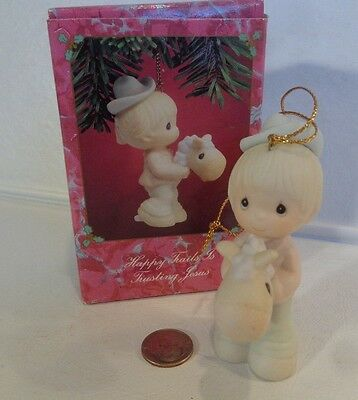 """Precious Moments~1991~#523224~""""Happy Trails Is Trusting Jesus""""~with Box and tags"""