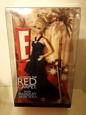 Mattel Barbie Doll E! Live From The Red Carpet Dress By Badgley Mischka 2007 Nib