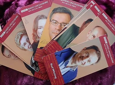 Bbc Radio Lincolnshire X14 Signed & Unsigned Vintage Cast   Card