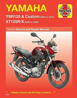 Haynes Yamaha YBR125 XT125 YBR125R X 2005-2013 Manual 4797 NEW