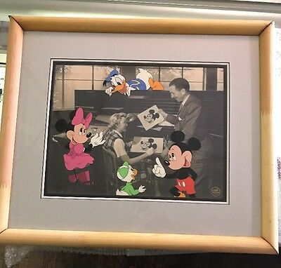 Walt at the Ink and Paint Department - Serigraph