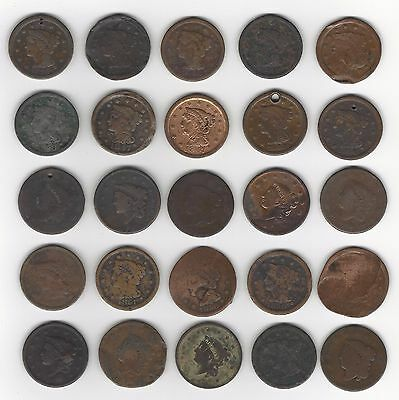 25 All Damaged Large Cents