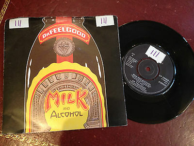 """1980s 7"""" SINGLE VINYL RECORD, DR FEELGOOD, MILK AND ALCOHOL"""
