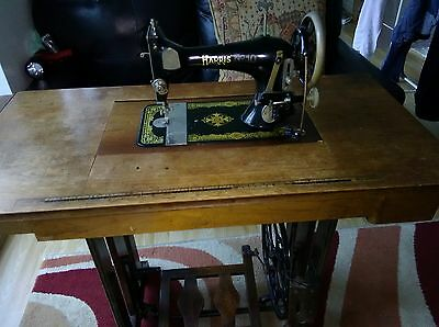 Harris Number 10 vintage sewing machine and stand..