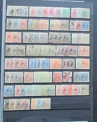 Puerto Rico - Collection Of Early Stamps On Stocksheet - Mint/used