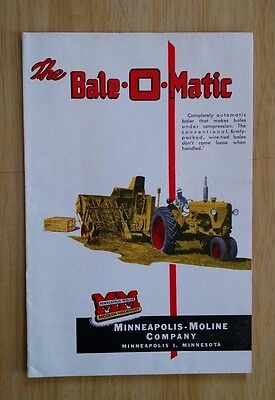 Minneapolis Moline The Bale O Matic 8 Page Sales Brochure