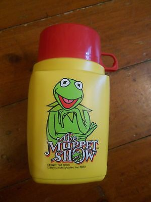 Retro Kermit The Frog ( The Muppet Show) Thermos drinks flask. Great cond! 1980