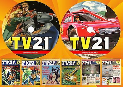 Tv21 + Tv Century 21 + Lots More On Two Printed Dvd Rom's