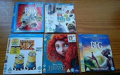 Blu-ray slipcase covers, Brave, Bolt,BFG, Pets Dispicable me2
