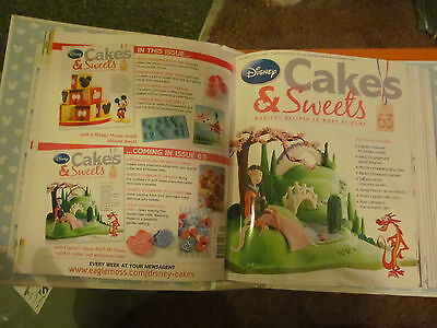 Disney cakes and sweets magazines issues 61 - 77 and accessories UNUSED