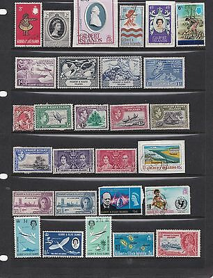 Gilbert & Ellice Islands M/U 2 scans, UPU MM, 1911 1d used, cards not included