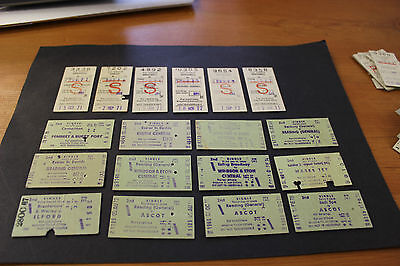 VINTAGE 1960's - 70's 2nd SINGLE SET OF 18 TRAIN TICKETS (8)