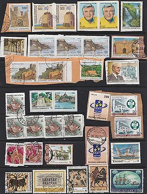 GREECE On paper range, some higher values, card not included.