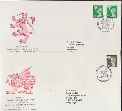 GB Regionals on covers x7, 2 are FDC, 3 scans