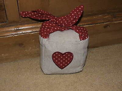 New Spot Fabric Doorstop / Paper Weight - Heart - Shabby Chic Red - Mothers Day