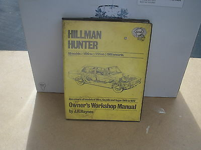 hillman hunter manual 1966-on