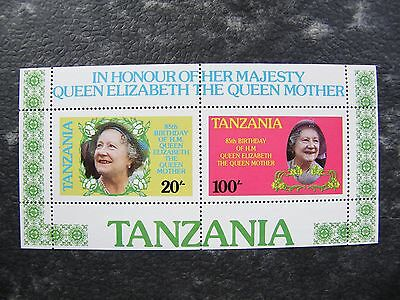Tanzania. 1985. Life and Times of Queen Elizabeth the Queen Mother. MS. MNH.