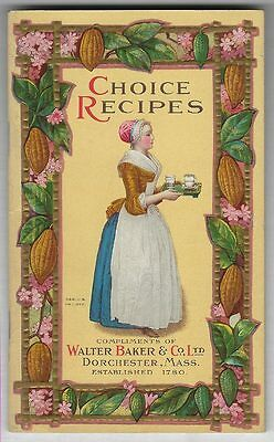 Bakers CHOCOLATE AND COCOA 1926 RECIPES HOME CANDY MAKING