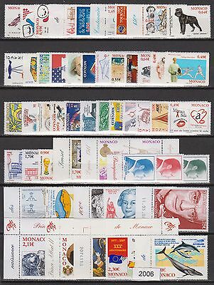 MONACO ANNEE COMPLETE 1996 timbres neufs xx Cote 135 €