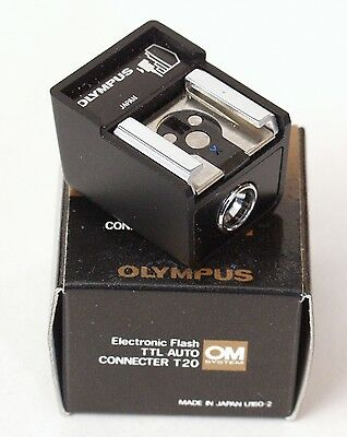 Olympus OM Original TTL Auto Connector T20 - BOXED with Instructions
