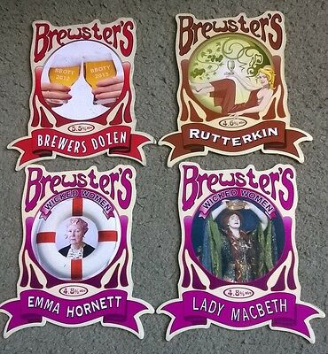 Four Brewsters Brewery Beer Pump Clips