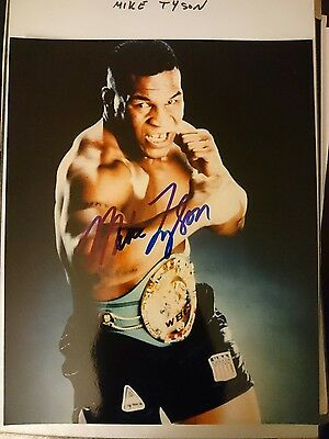 Mike Tyson Boxer Signed Photo
