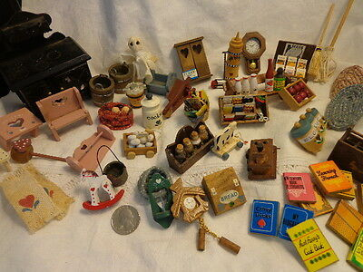 HUGE adorable lot of Dollhouse miniatures Too many to even count! 50+ pieces!