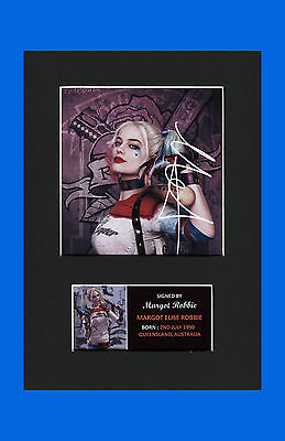 Margot Robbie Harley Quinn Suicide Squad signed pre print mounted picture new #