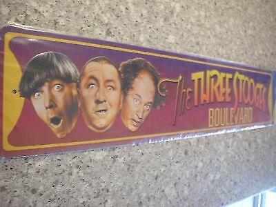 Brand New The Three Stooges Boulevard Metal Street Sign Official Collectors Rare