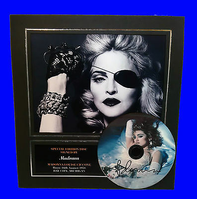 Madonna Signed Mounted Photo Display, Autographed CD pre-print brand new