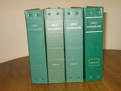 47 bimonthly issues Leica Fotografie magazines 1966 - 1973 - English edition