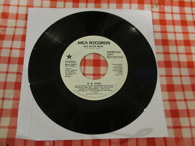 "R & B./   Bb King "" Big Boss Man  "" 1985 White Label Promo Mca 7"" Single"