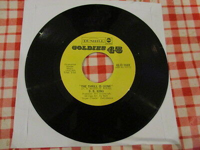 "R & B./   Bb King "" The Thrill Is Gone / So Excited ""  7"" Single"