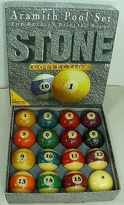 Aramith Belgian Billiard Pool Balls Set Granite Collection Exclnt Cond