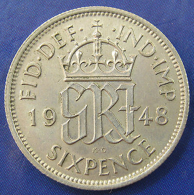1948 6d George VI Sixpence in a strong grade