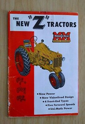 Minneapolis Moline The New Z Tractors 20 Page Sales Brochure