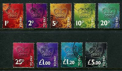 GB GREAT BRITAIN 1994 sg d102-d110 3rd decimal POSTAGE DUES V/F/USED SET