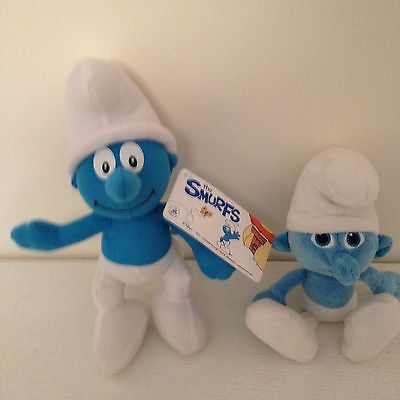 Two Smurfs-One With Tag