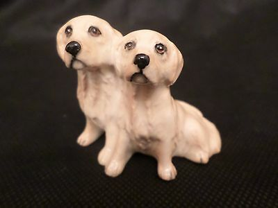 Rare Beswick Figure Of A Pair Of Golden Retriever Puppies