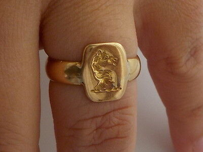 Solid 18ct Gold Seal Ring Metal Detecting Find