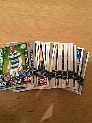 Match Attax SPFL 15/16 trading cards. 100 Assorted cards all different