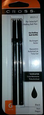 8 CROSS SELECTIP Rollerball Pen REFILLS BLACK 0.7mm #8523-2 New