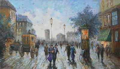Original oil painting on canvas signed impressionism landscape art artist Europe